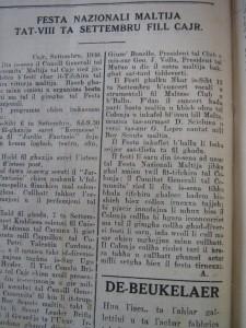 Estratt mill- Berqa li deher fis-26 ta' Settembru 1930.
