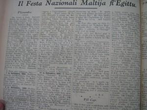 Estratt mill- Berqa li deher fis-24 ta' Settembru 1932.